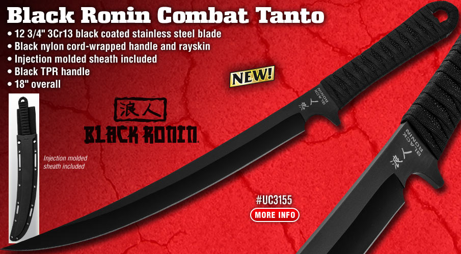 Black Ronin Combat Tanto Knife And Sheath