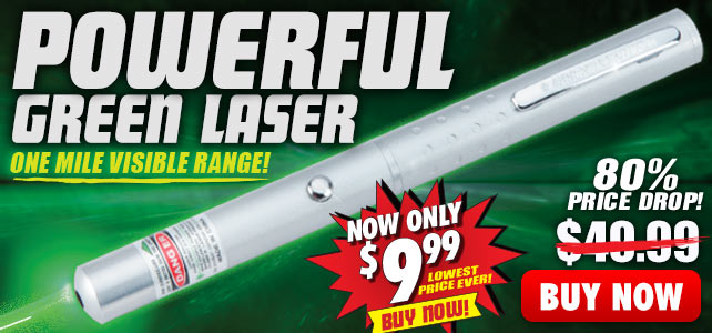 NV-1 Mile Bright Green Laser Pointer