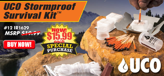 Stormproof Survival Kit With Tent