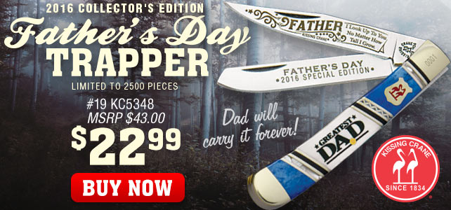 Kissing Crane 2016 Fathers Day Trapper