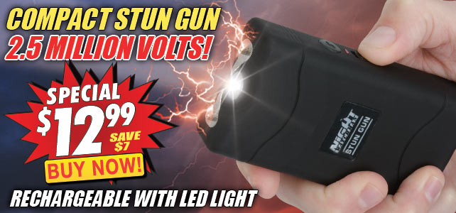 Night Watchman 5 Million Volt Stun Gun LED Flashlight